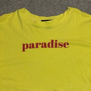 Forever 21 super cropped Paradise T-shirt